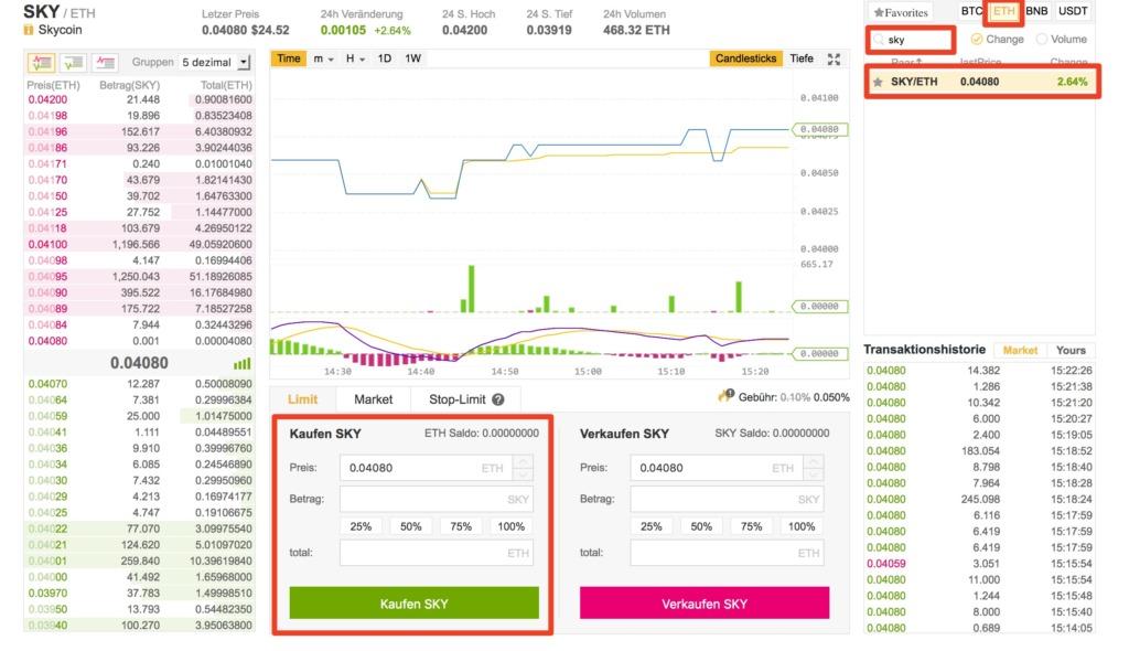 skycoin auf onlinewaehrung.de kaufen